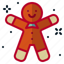 baking, christmas, gift, ginger, merry, party, pastry icon