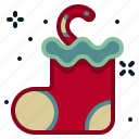 christmas, decoration, gift, present, sock, winter, winterwear icon