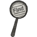 find, grunge, search icon