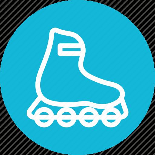 inline, skates, sportive boot, sports icon icon