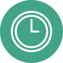 clock, outlined, time, tool icon
