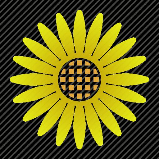 bloom, power, sunflower, yellow icon