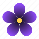 bloom, flower, purple, viola, violet icon
