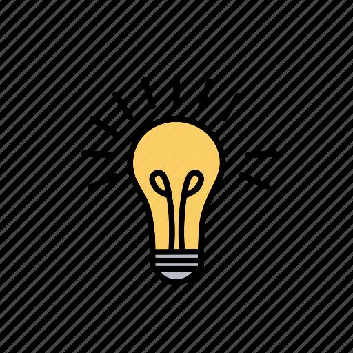 Bright, creative, idea, lamp, light bulb icon - Download on Iconfinder