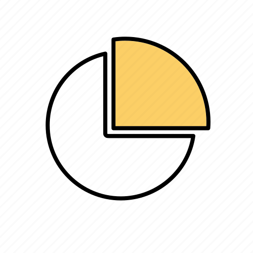 circular diagram, numbers, office, pie chart, pieces, presentation, work icon