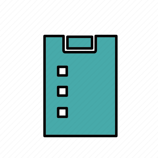 clipboard, form, list, office, survey, work icon
