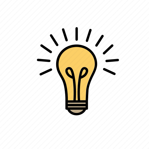 bright, business, creative, idea, lamp, light bulb, smart icon