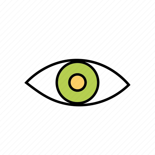 contacts, eye, looking, overview, scan, seeing icon
