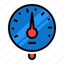 blood, gauge, meter, pressure, sphygmomanometer icon