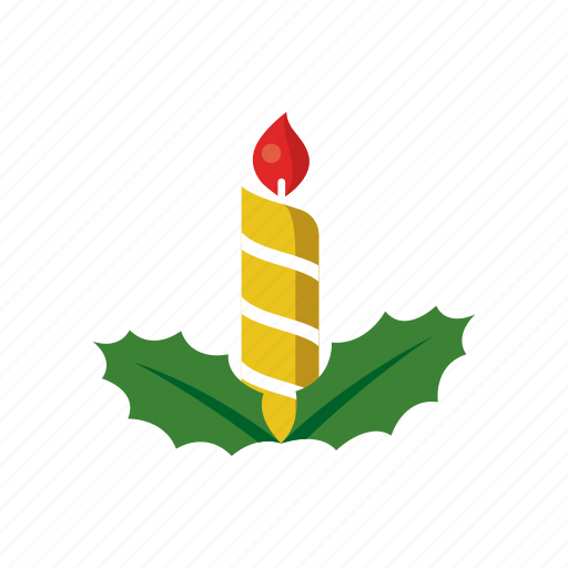 candle, celebration, christmas, decoration, fire, light, ornament icon