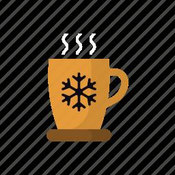 beverage, chocolate, christmas, hot drink, mug, warm, winter icon