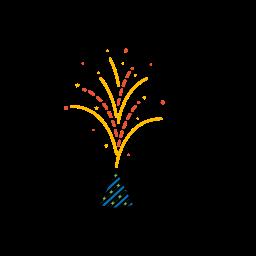 anaar, diwali, festival, fireworks, lights icon