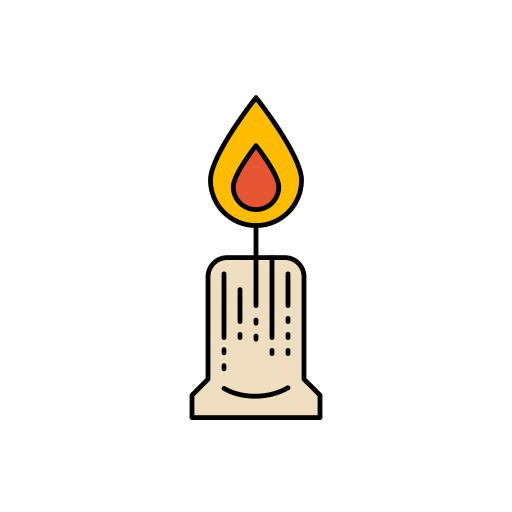candle, diwali, festival, lights icon