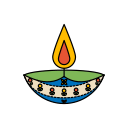 diwali, diya, festival, lights icon