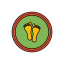 diwali, festival, footprints, lights icon