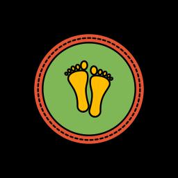 diwali, festival, footprints, lights icon