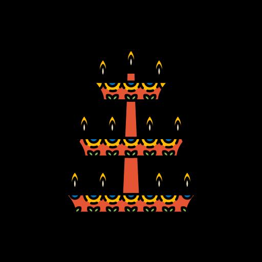 decorations, diwali, festival, lamp, lights icon