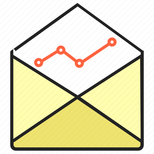analytics, email, email marketing, inbox, report icon