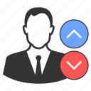 career, growth, increment, progress, voting icon