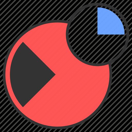 analytics, chart, comparison, percentage, pie chart icon