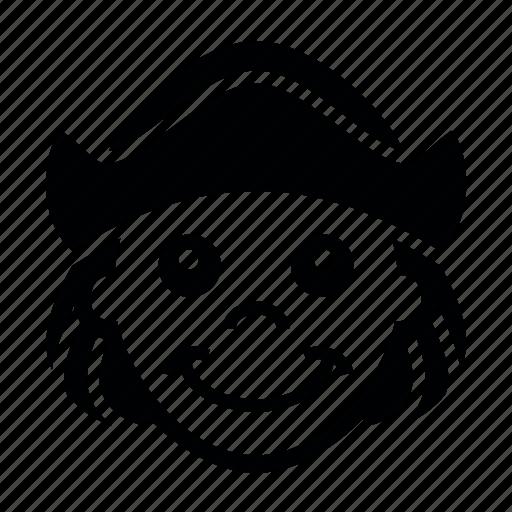 boy, cap, columbus, day icon