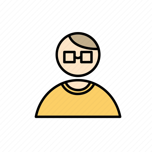 employee, glasses, hipster, job, office, work icon