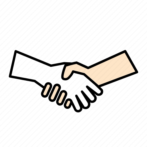 agreement, contract, hands, hands shaking icon