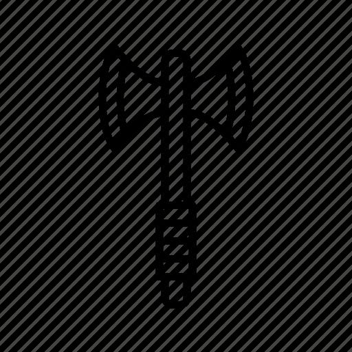 axe, battle, double, fight, headed, weapon icon