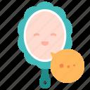 care, mirror, myself, self, talking, yourself icon