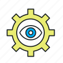 access, assumption, autocorrect, autodetect, concentrate, concentration, correction, detect, diagnostic, diagnostics, eye, hypothesis, investigate, monitoring, permission, personalization, privacy, progressive, search, visibility icon