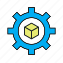 backup, collect, compile, compress, data, pack, package, parcel, process, processing, purchase, recover, restore, set up, setup, transform, transformation icon