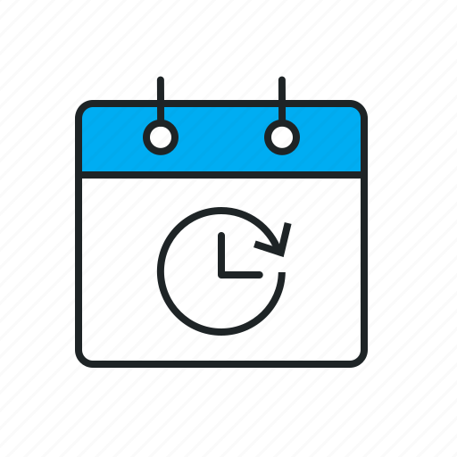 accomplish, adjourn, available, calendar, delay, duration, estimation, expiration, flexible, lasting, log, overtime, period, periodicity, postpone, ready, remain, routine, schedule, ship date, time, time limited, timeframe, trial icon