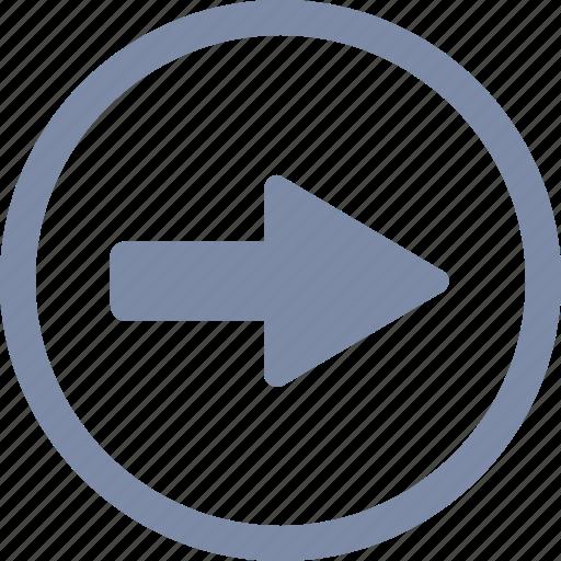 arrow, forward, go, navigation, next, right icon