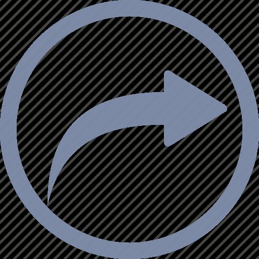 arrow, forward, redo, return, revert, right icon
