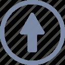 arrow, grow, rise, up, upload, upward icon