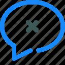 chat, comment, conversation, delete, message icon