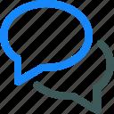 chat, comment, conversation, dialogue, message