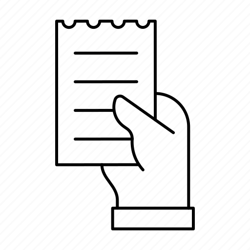 account, bill, commerce, money, paper, shopping icon