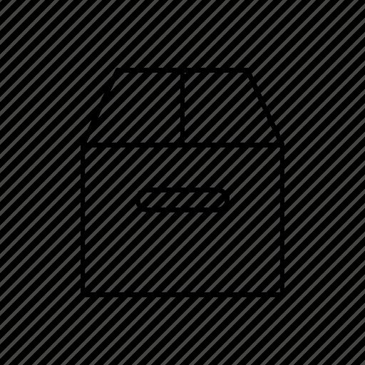 box, commerce, money, storage icon