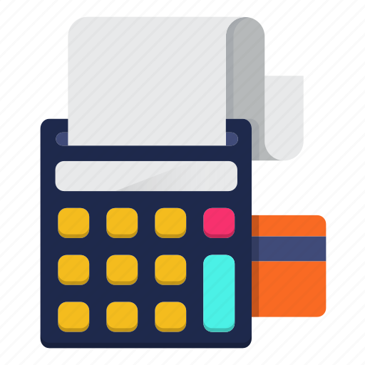 calculator, checkout, commerce, machine, order, payment icon