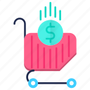 basket, cart, commerce, sale, shopping icon