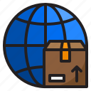 delivery, world, shipping, box, logistic