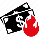 accident, burn, business, damage, danger, fire, flame icon