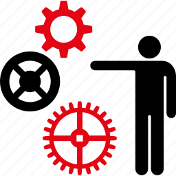 gears, industrial, mechanical, mechanism, presentation, project, technology icon