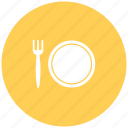 cutlery, dish, food, food court, knife and fork, plate, restaurant icon