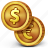 cash, coins, money icon