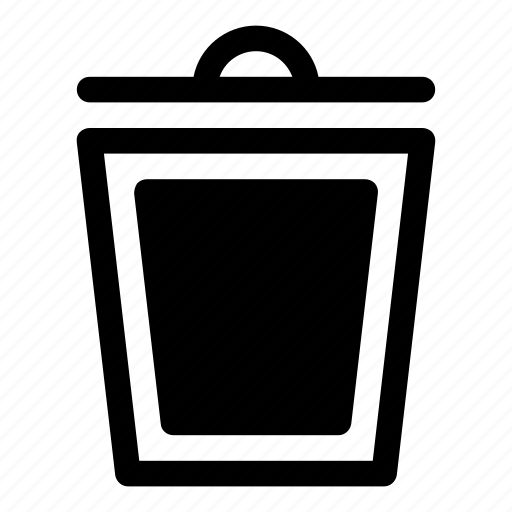 bin, can, delete, drop, remove, trash, waste icon