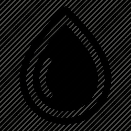 blood, drop, liquid, oil, petrol, tear, water icon