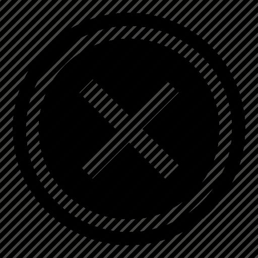 cancel, close, cross, delete, drop, remove, stop icon
