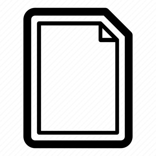 blank, clean, create, document, file, new, paper icon